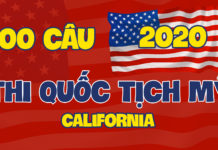 100 câu hỏi thi quốc tịch Mỹ California100 câu hỏi thi quốc tịch Mỹ California