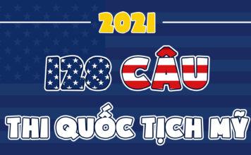 128 câu hỏi dân sự thi quốc tịch Mỹ